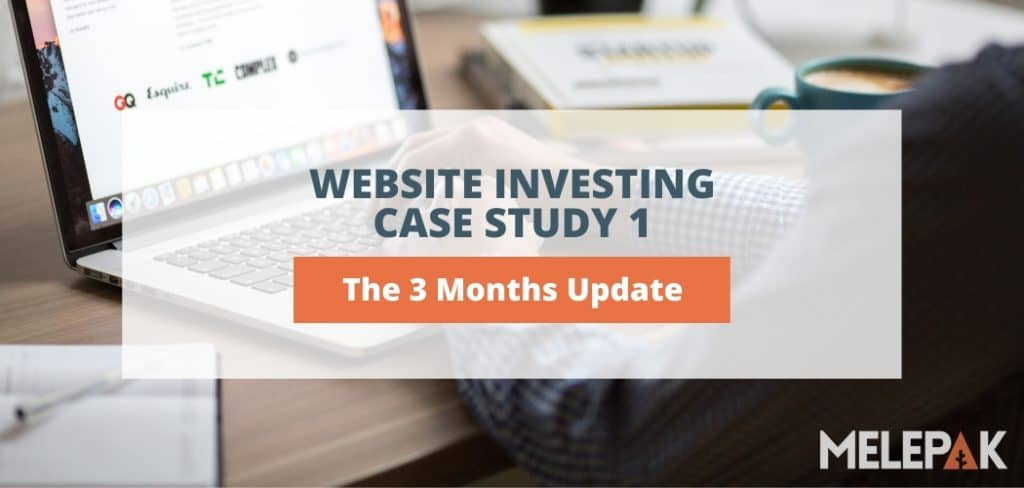 Website Investing Case Study 1 The 3 Months Update